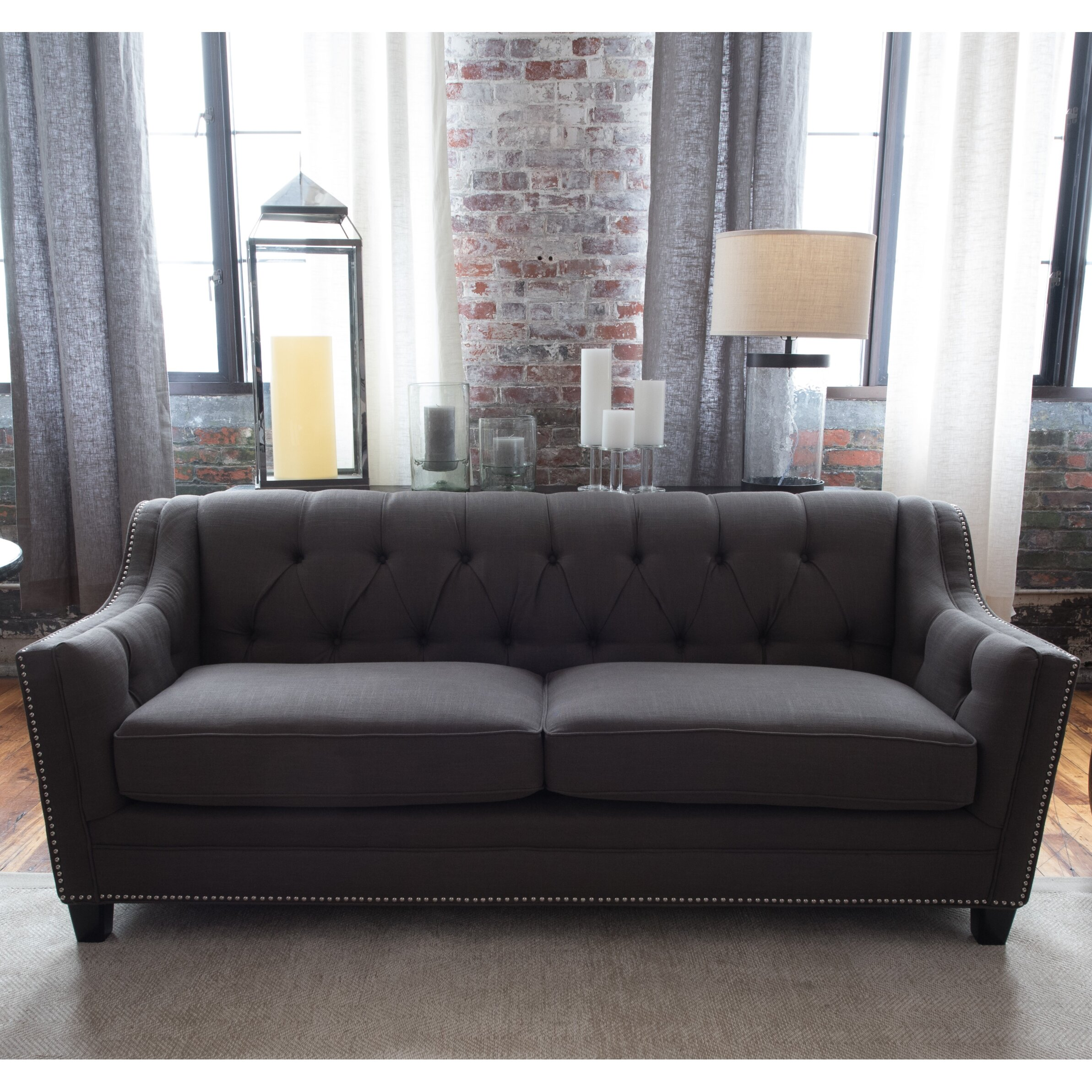 Canora grey addison sofa wayfair for Gray sectional sofa wayfair