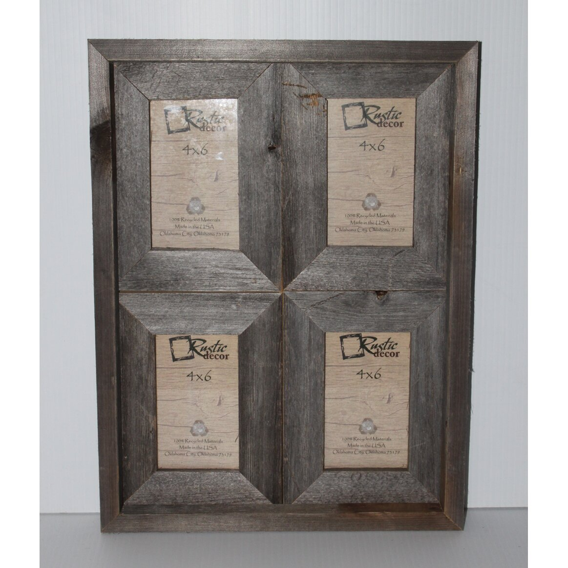 rustic decor rustic reclaimed barn wood collage picture frame