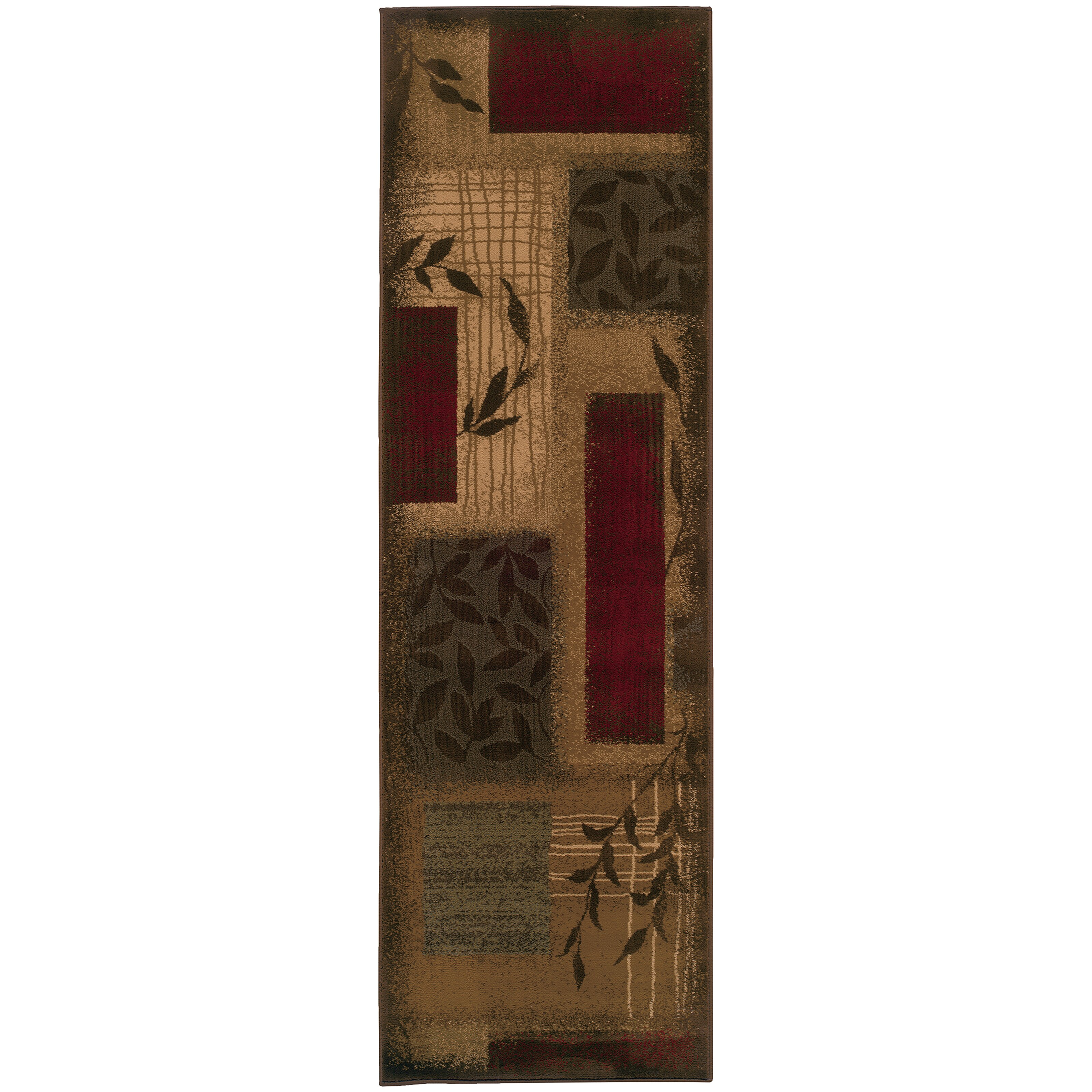 Fleur De Lis Living Abell Beige Wine Red Area Rug