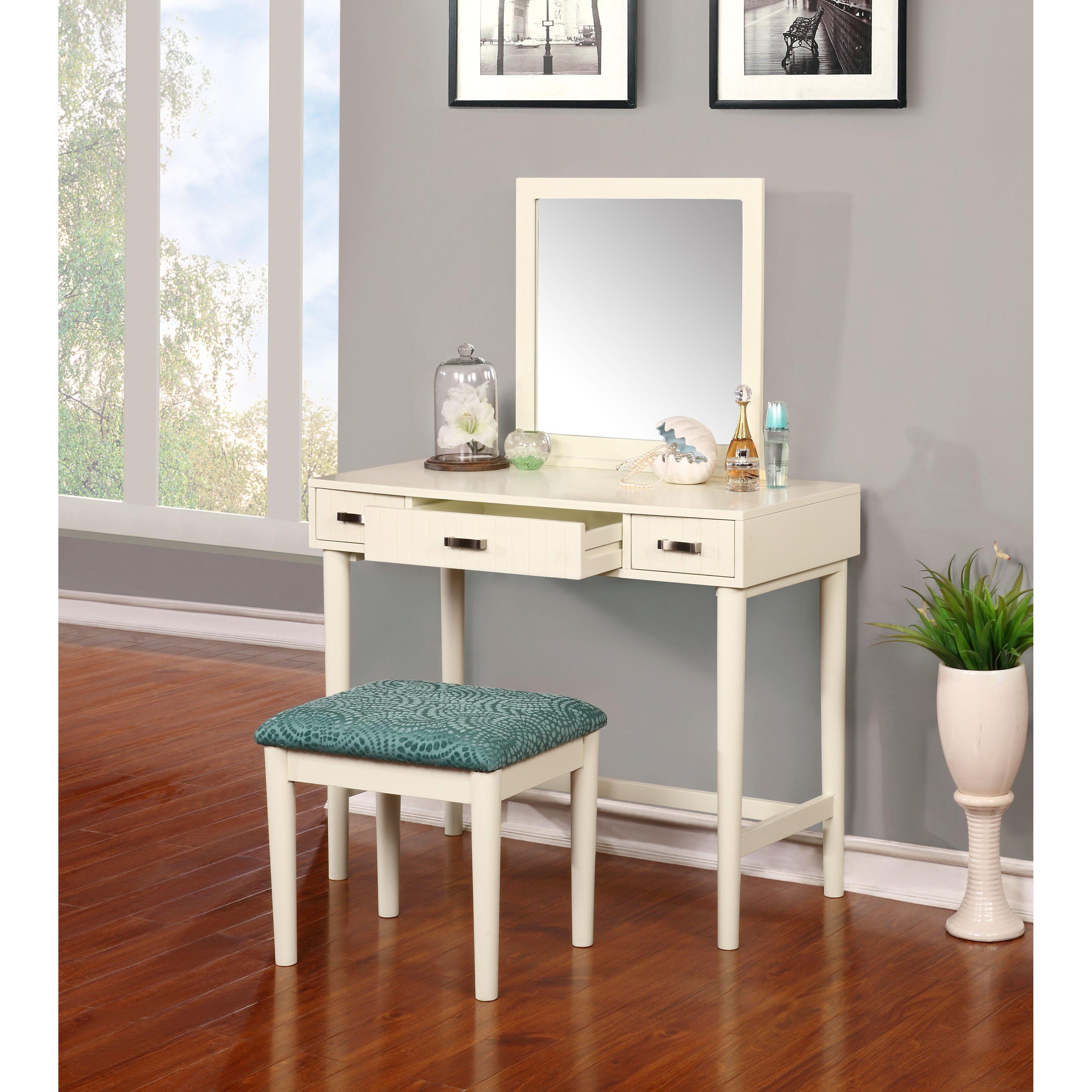 Latitude Run Worley Vanity Set With Mirror & Reviews
