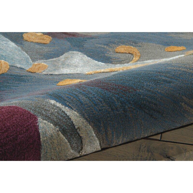 Latitude Run Annan Handmade Blue/Orange Area Rug & Reviews ...