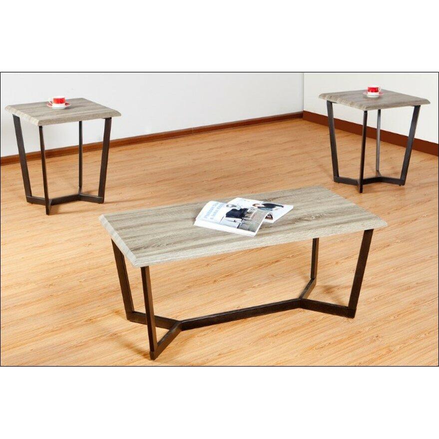 Square Coffee Table By Latitude Run: Latitude Run Arturo 3 Piece Coffee Table Set By Simmons