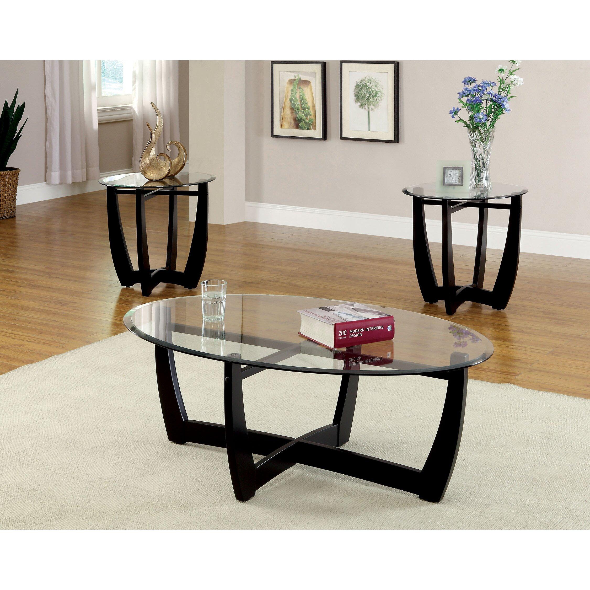 Three Piece Living Room Table Set Latitude Run Mattie 3 Piece Coffee Table Set Reviews Wayfair