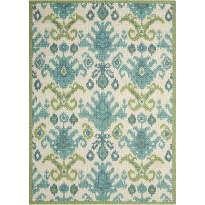 Latitude Run Higgins Ivory Green Blue Area Rug Amp Reviews