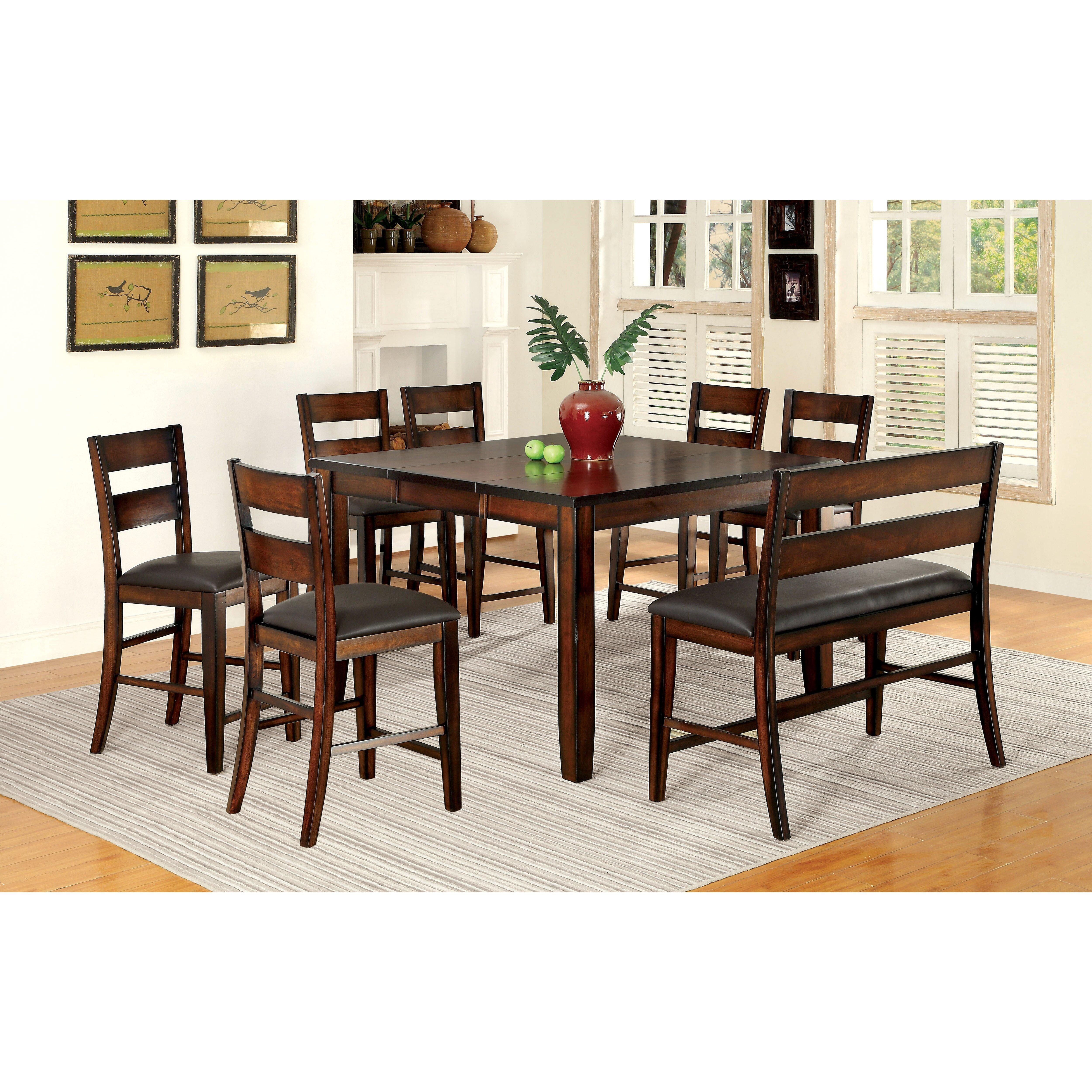 latitude run maliana 8 piece counter height dining set reviews. Black Bedroom Furniture Sets. Home Design Ideas