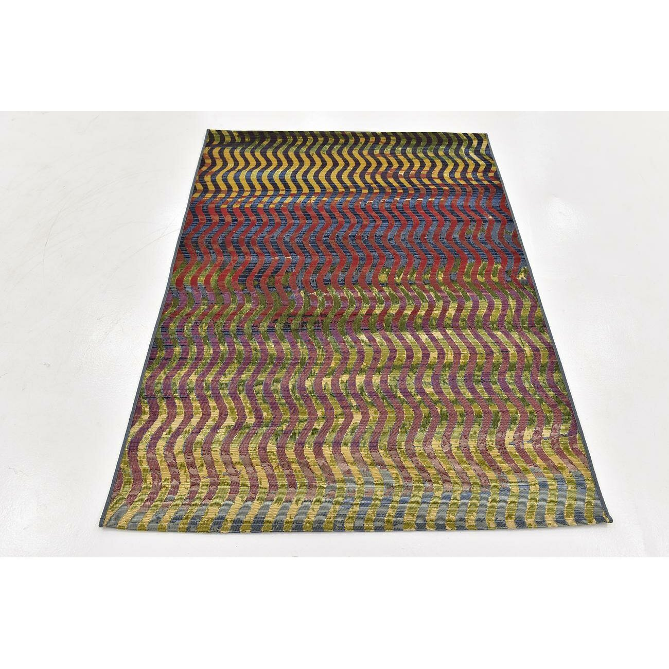 Latitude Run Skylar Green Beige Indoor Outdoor Area Rug