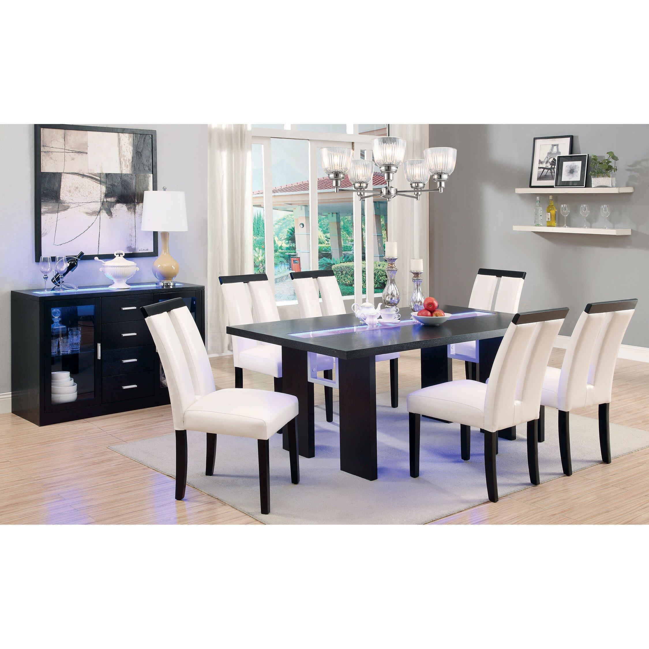 Latitude Run Modrest Luminate LED Dining Table LATT wayfair kitchen chairs Latitude Run Modrest Luminate LED Dining Table