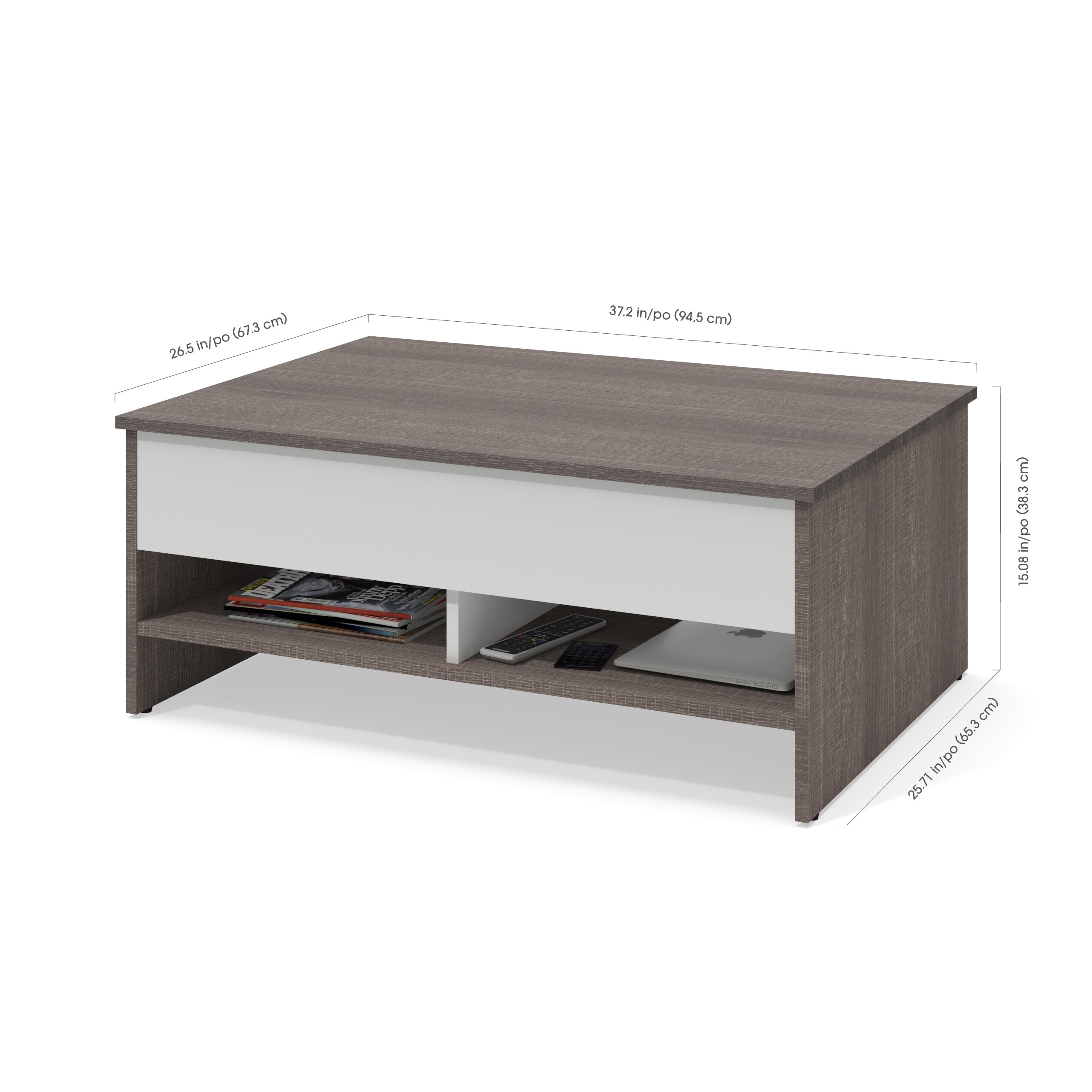 Latitude Run Frederick 2 Piece Lift Top Storage Coffee Table And Tv Stand Set