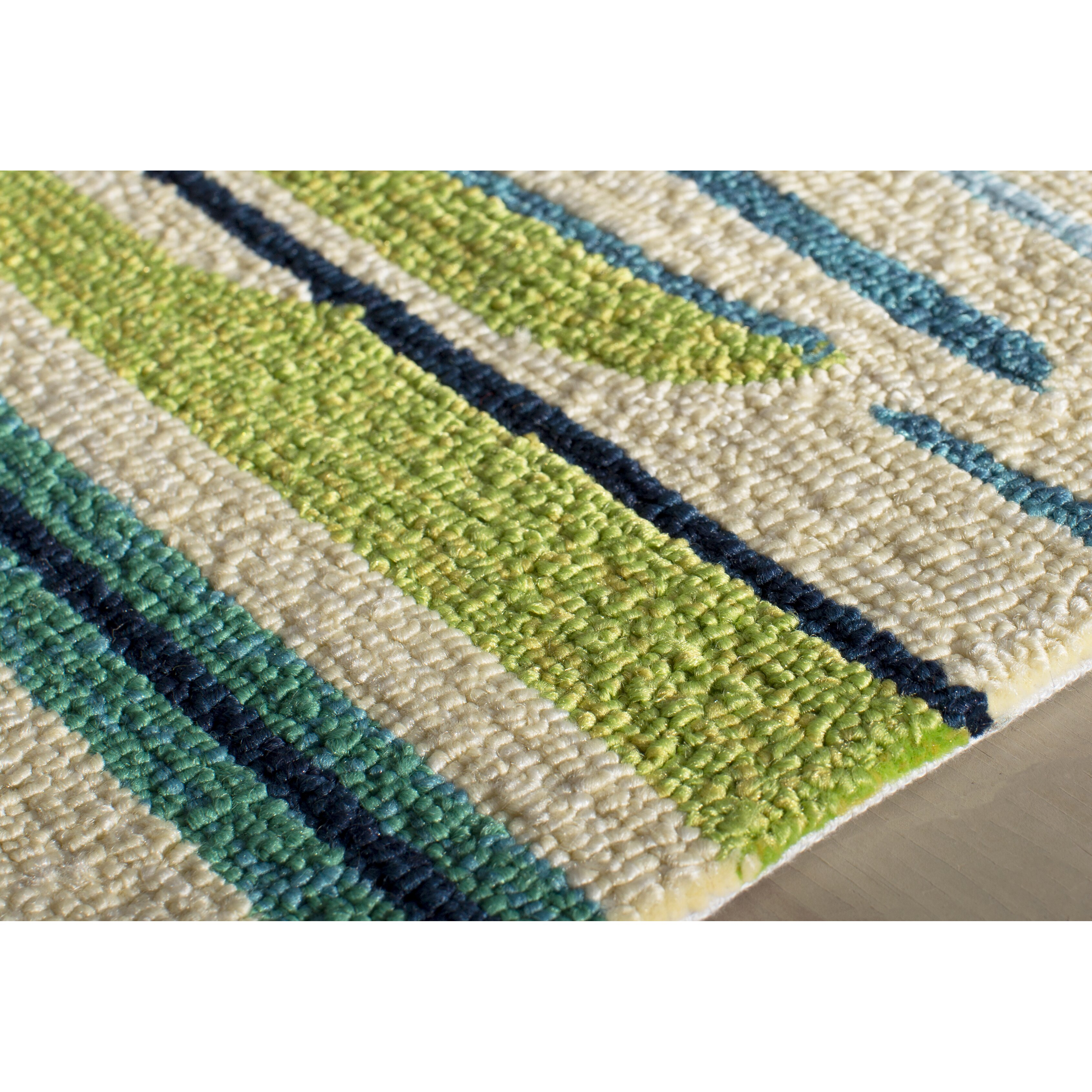 Dalton blue green indoor outdoor area rug reviews for Indoor outdoor carpet green