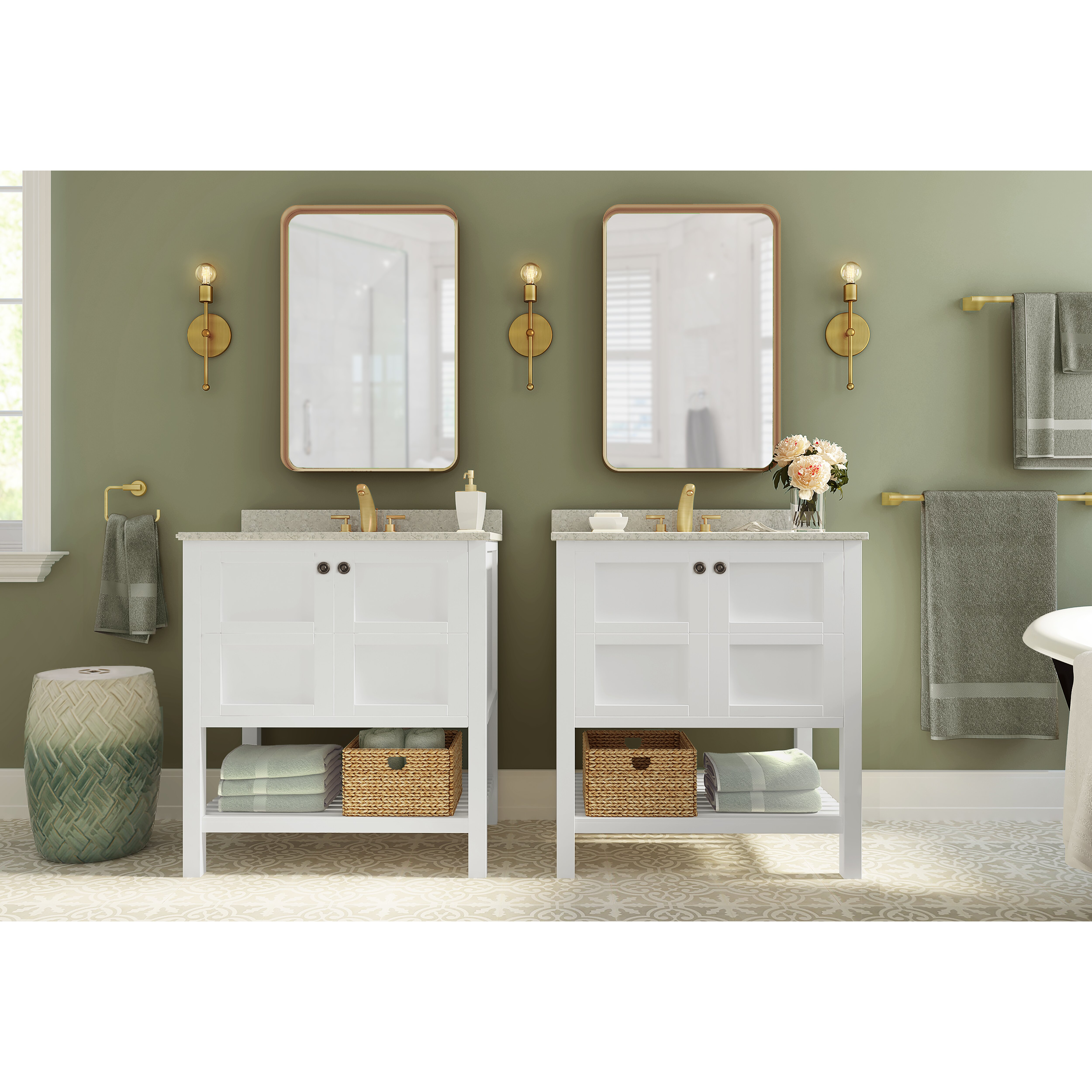 Bathroom Single Vanity Latitude Run Peabody 30 Single Vanity Set Reviews Wayfair