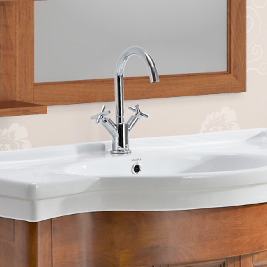 Prima Standard Bathroom Faucet Double Handle With Optional Deck Plate Reviews Allmodern