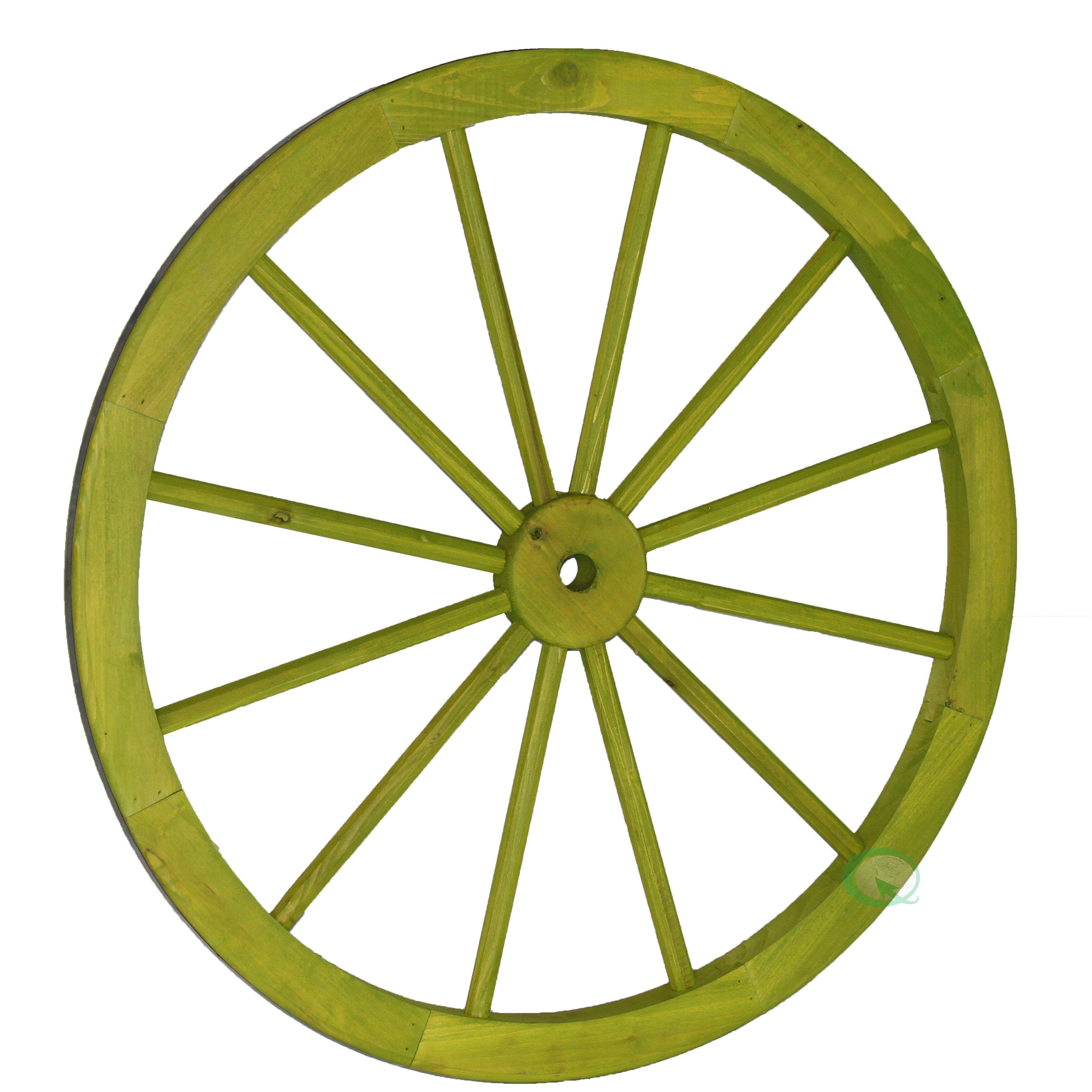 Vintiquewise Decorative Wagon Garden Wheel   Wayfair.ca