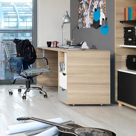 urban facettes schreibtisch evolve mit rollen. Black Bedroom Furniture Sets. Home Design Ideas