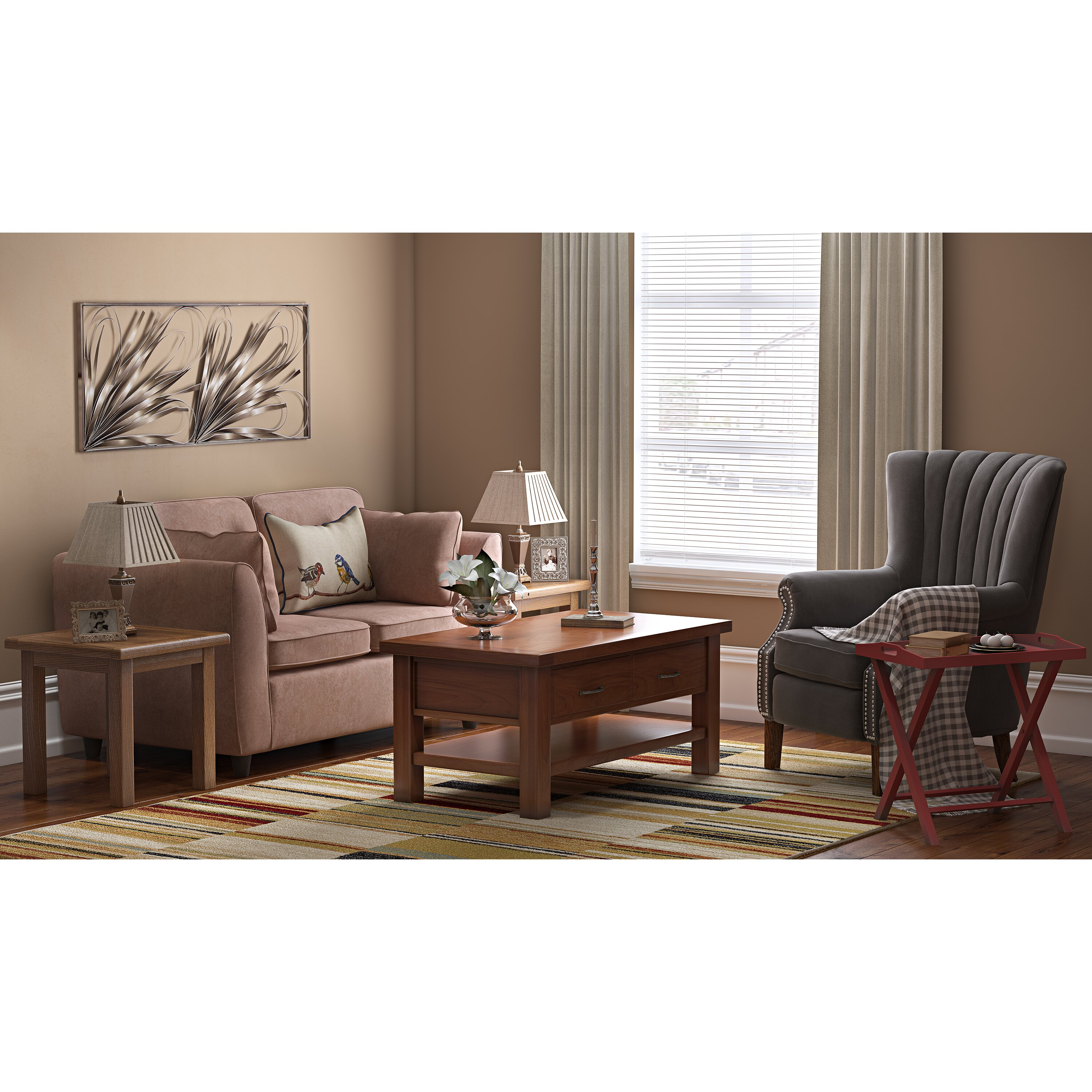 Wing Chairs For Living Room Three Posts Anka Wingback Chair Reviews Wayfaircouk