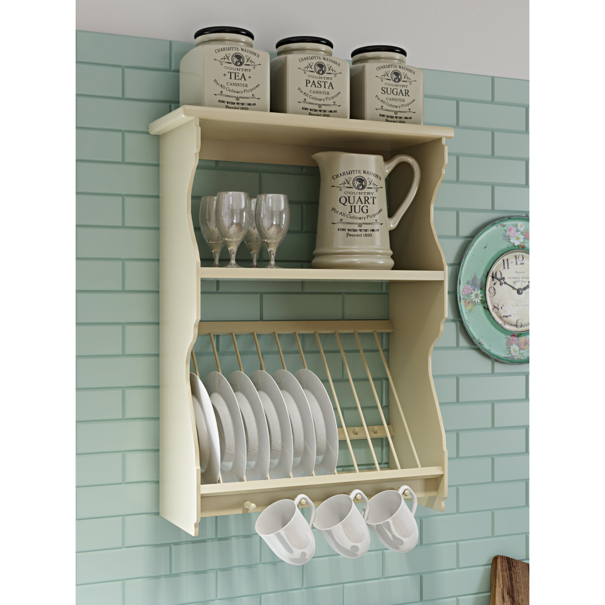 Wooden Plate Racks For Kitchens Kitchen Wall Plate Rack Designalicious