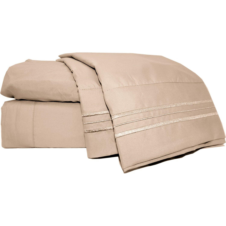 mezzati prestige 1800 thread count bed sheet set reviews. Black Bedroom Furniture Sets. Home Design Ideas