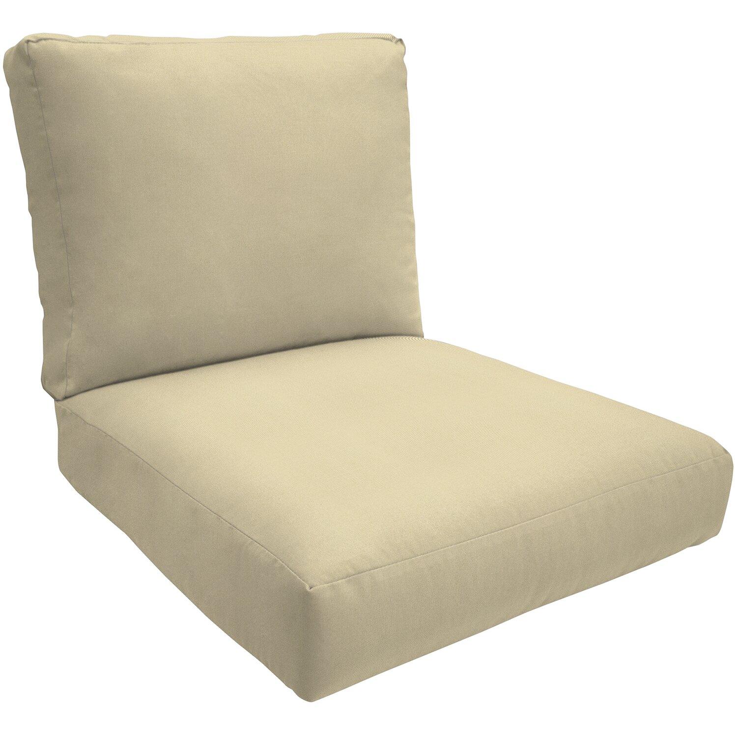 Knife Edge Outdoor Sunbrella Lounge Chair Cushion. Wayfair Custom Outdoor Cushions   Wayfair