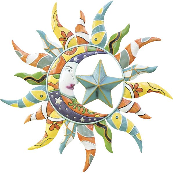 Wind - Weather Talavera Sun Moon and Star Wall Decor