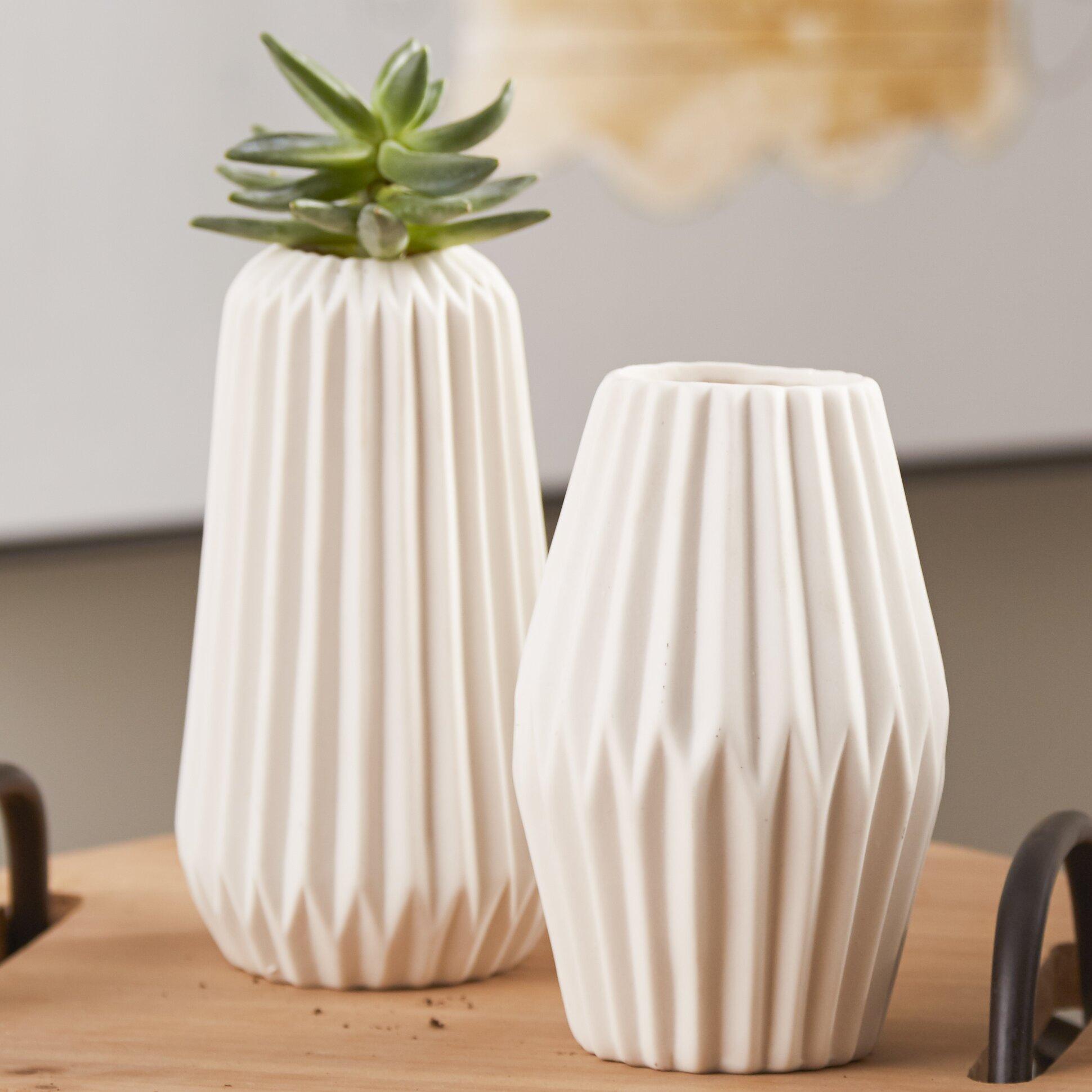 Bloomingville Coffee Table Bloomingville 2 Piece Ceramic Fluted Vase Set Reviews Wayfair
