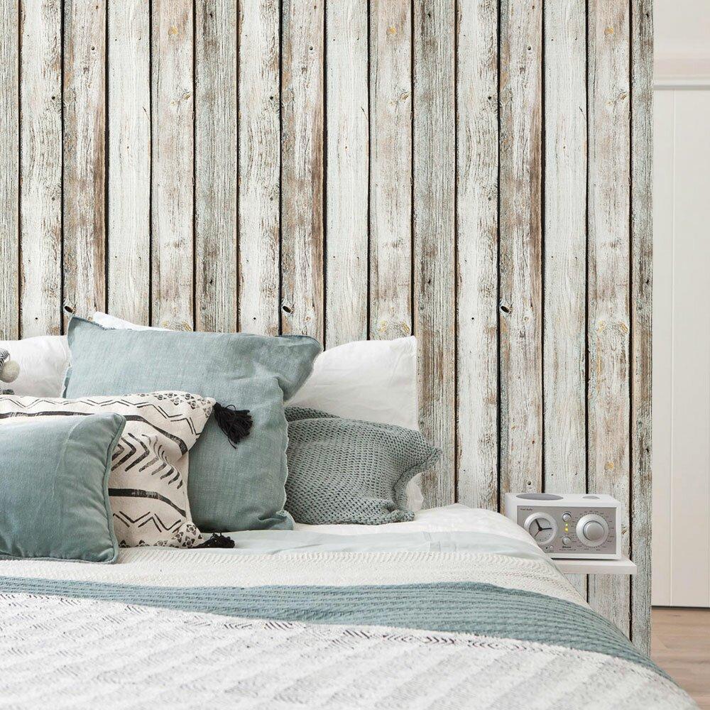 Simpleshapes Vintage Wood Panels Wallpaper Amp Reviews