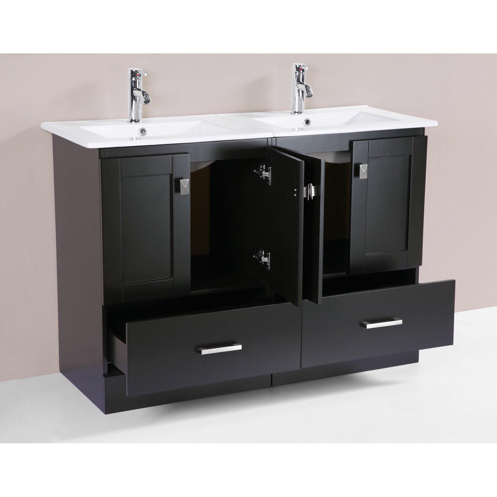 Latitude Run Luci Modern 48 Double Bathroom Vanity Set