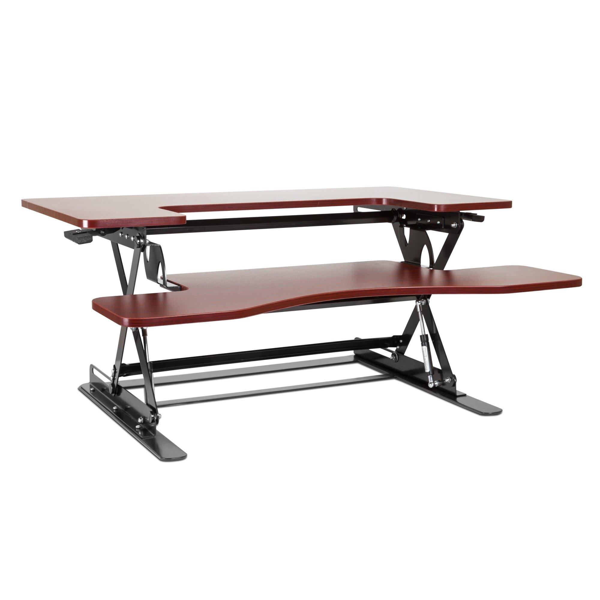 """Halter 16.14"""" H x 35.6"""" W Standing Desk Conversion Unit ..."""