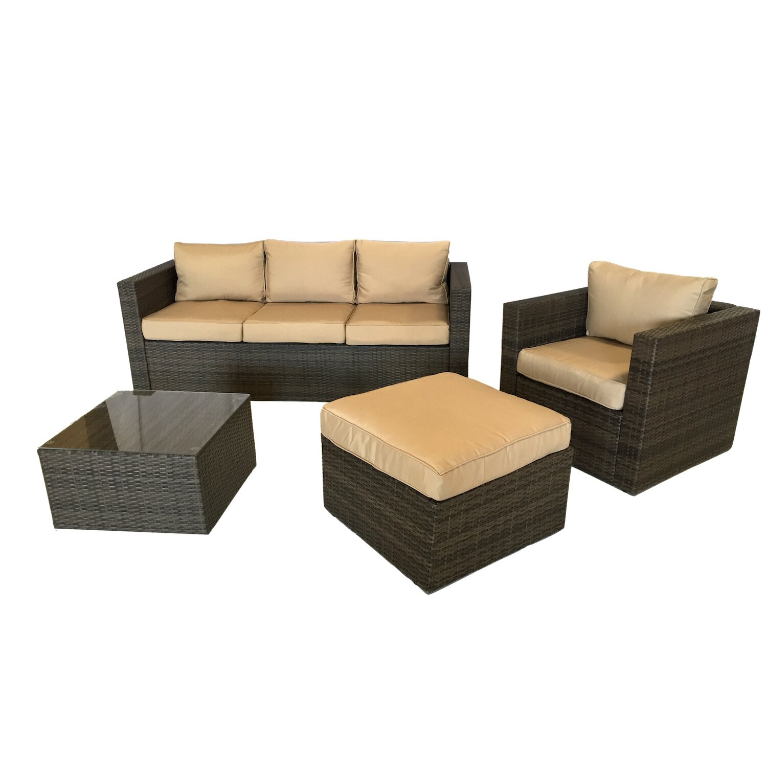 Patio Wicker 5 Piece Deep Seating Group With Cushion Reviews Joss Am