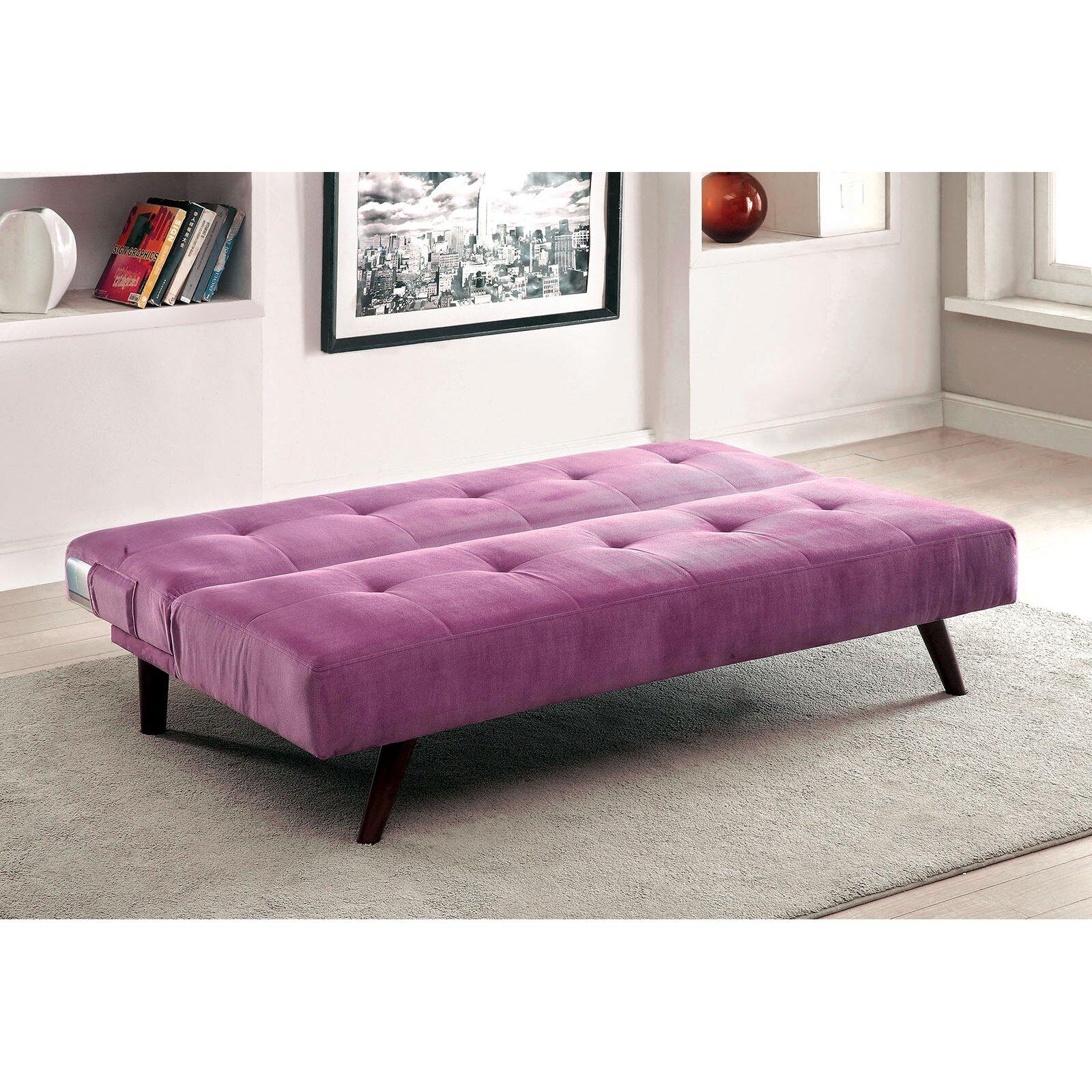 a j homes studio tufted flannelette sleeper sofa reviews