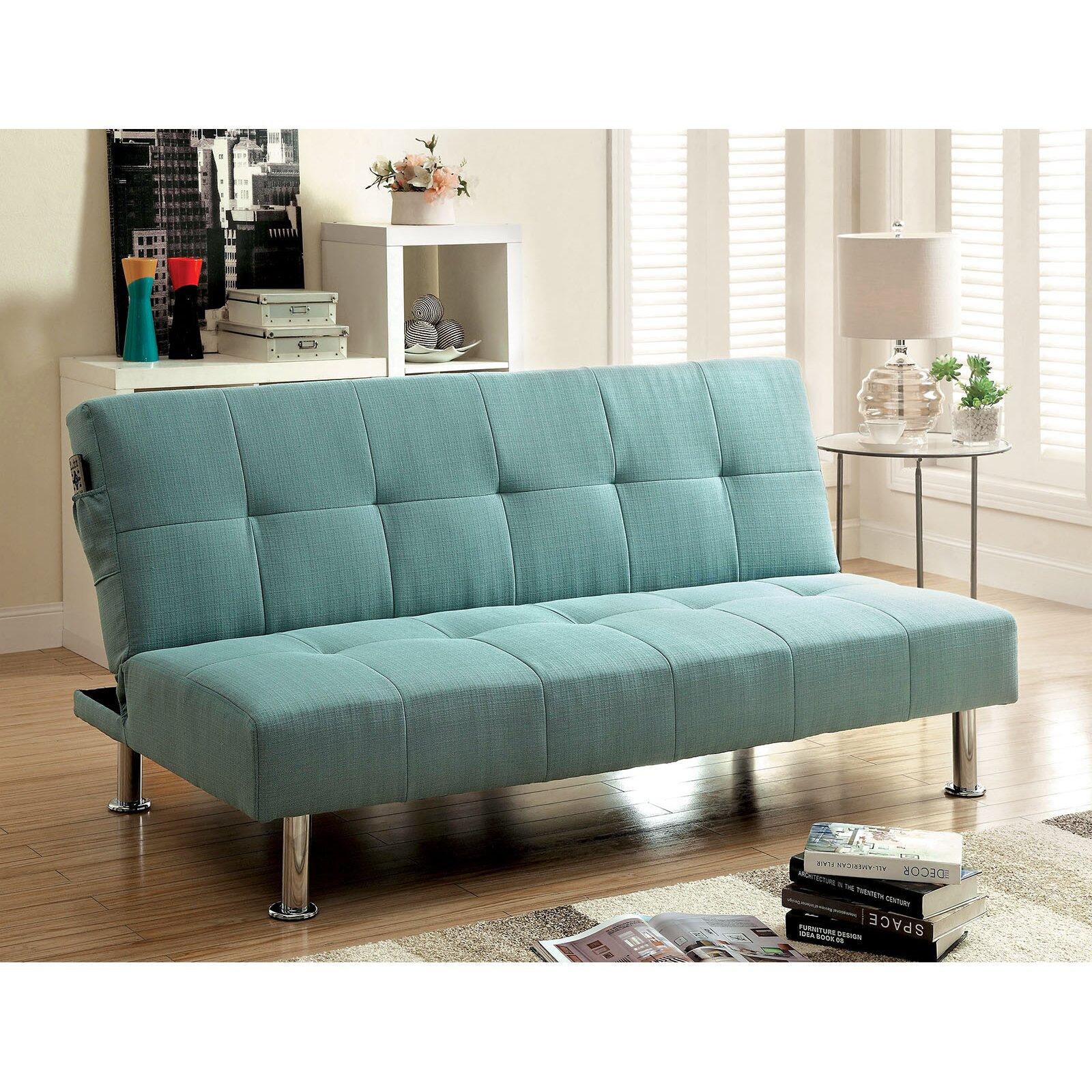 a j homes studio tufted futon sleeper sofa reviews wayfair