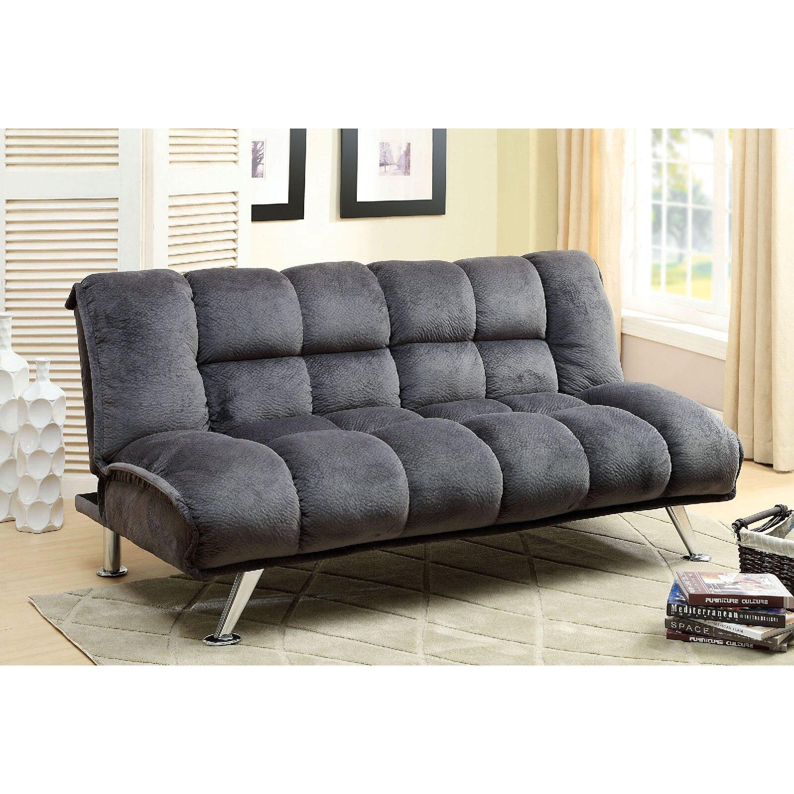 A J Homes Studio Lauren Tufted Futon Sleeper Sofa