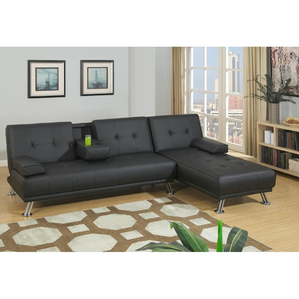 L Shaped Sectional With Recliner