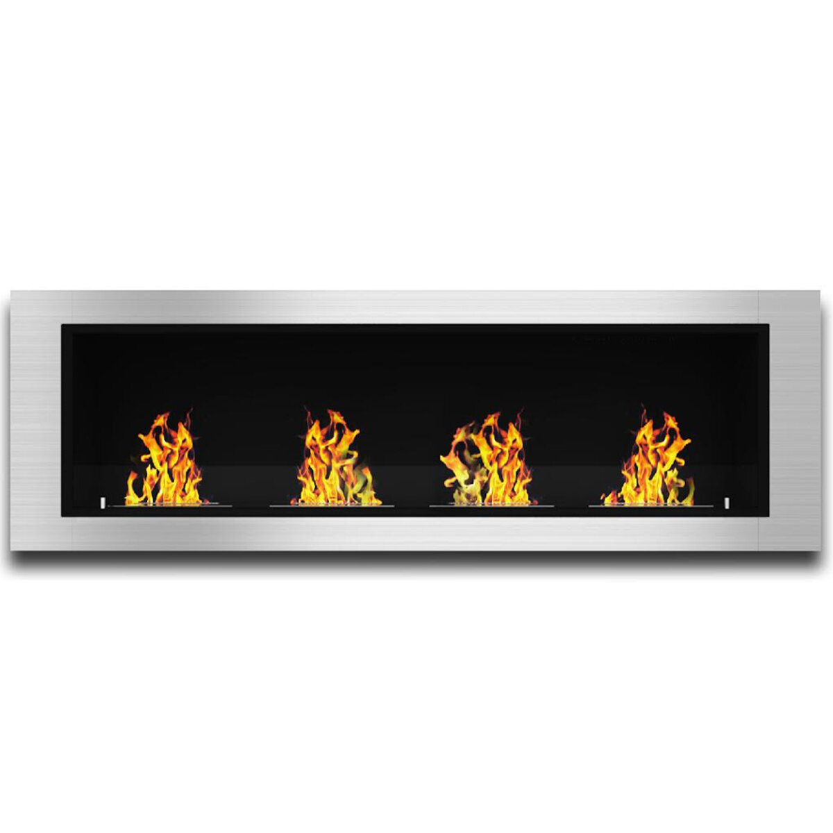 Natural gas wall mount fireplaces - Elite Flame Luxe Ventless Wall Mount Bio Ethanol Fireplace