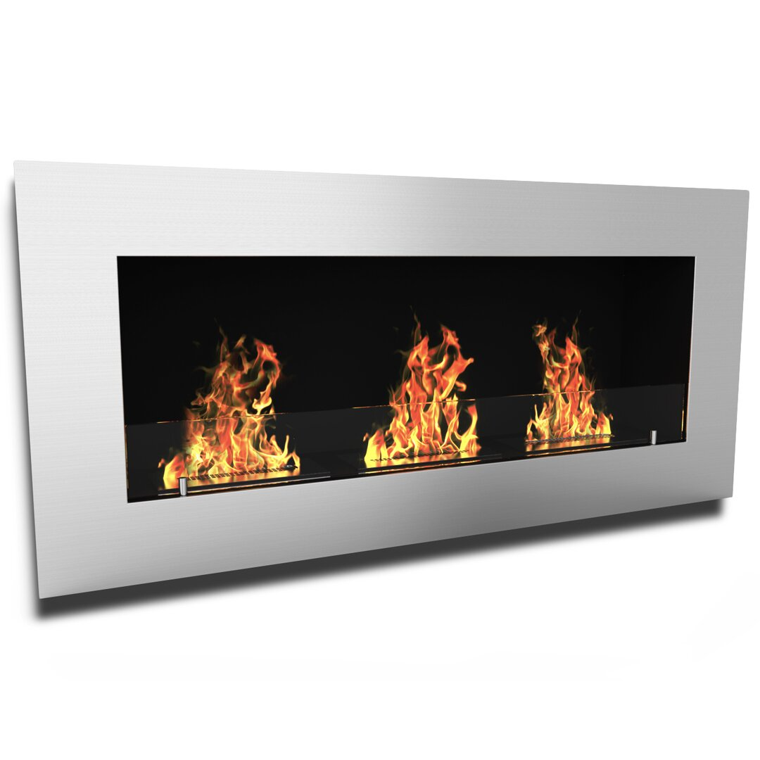 Natural gas wall mount fireplaces - Elite Flame Monroe Ventless Wall Mount Bio Ethanol Fireplace