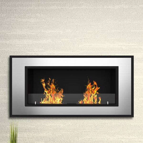 Elite Flame Tulsa Ventless Wall Mount Bio-Ethanol Fireplace - Elite Flame Tulsa Ventless Wall Mount Bio-Ethanol Fireplace