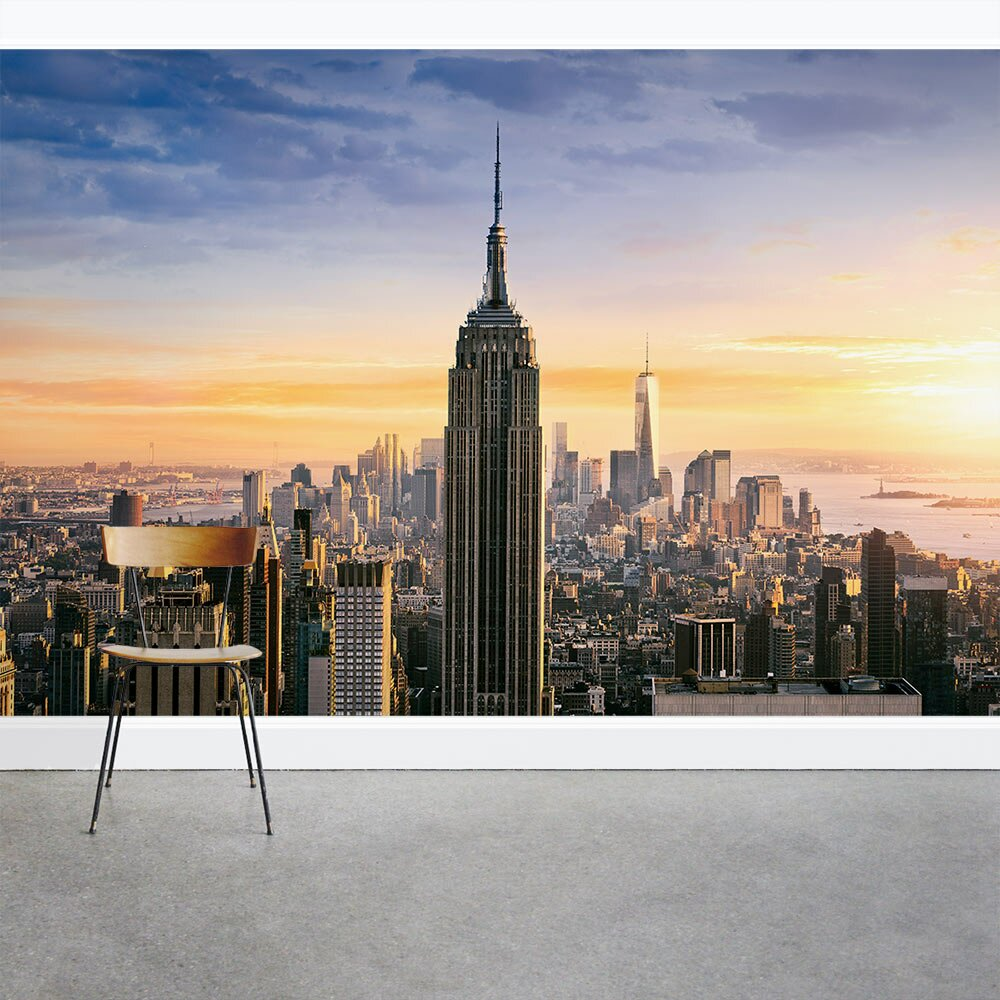 Wallums wall decor empire state building new york city 8 for Empire state building wall mural