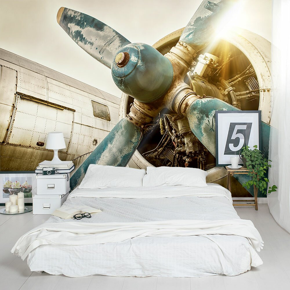 Wallums wall decor vintage airplane propeller 8 39 x 144 3 for Airplane propellers for decoration