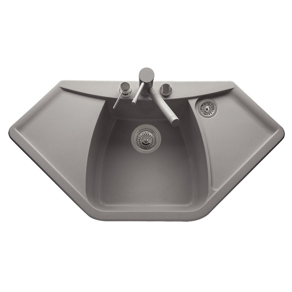 DeltaSRL Naiky 98cm x 51cm Kitchen Sink Wayfair.co.uk