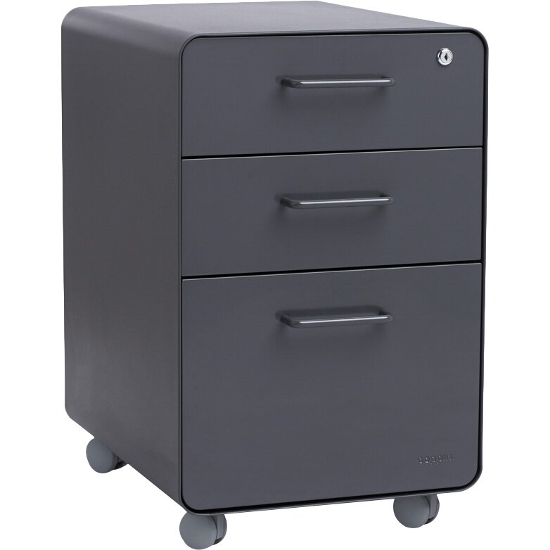 ... Poppin 3 Drawer Mobile Vertical File Cabinet ...