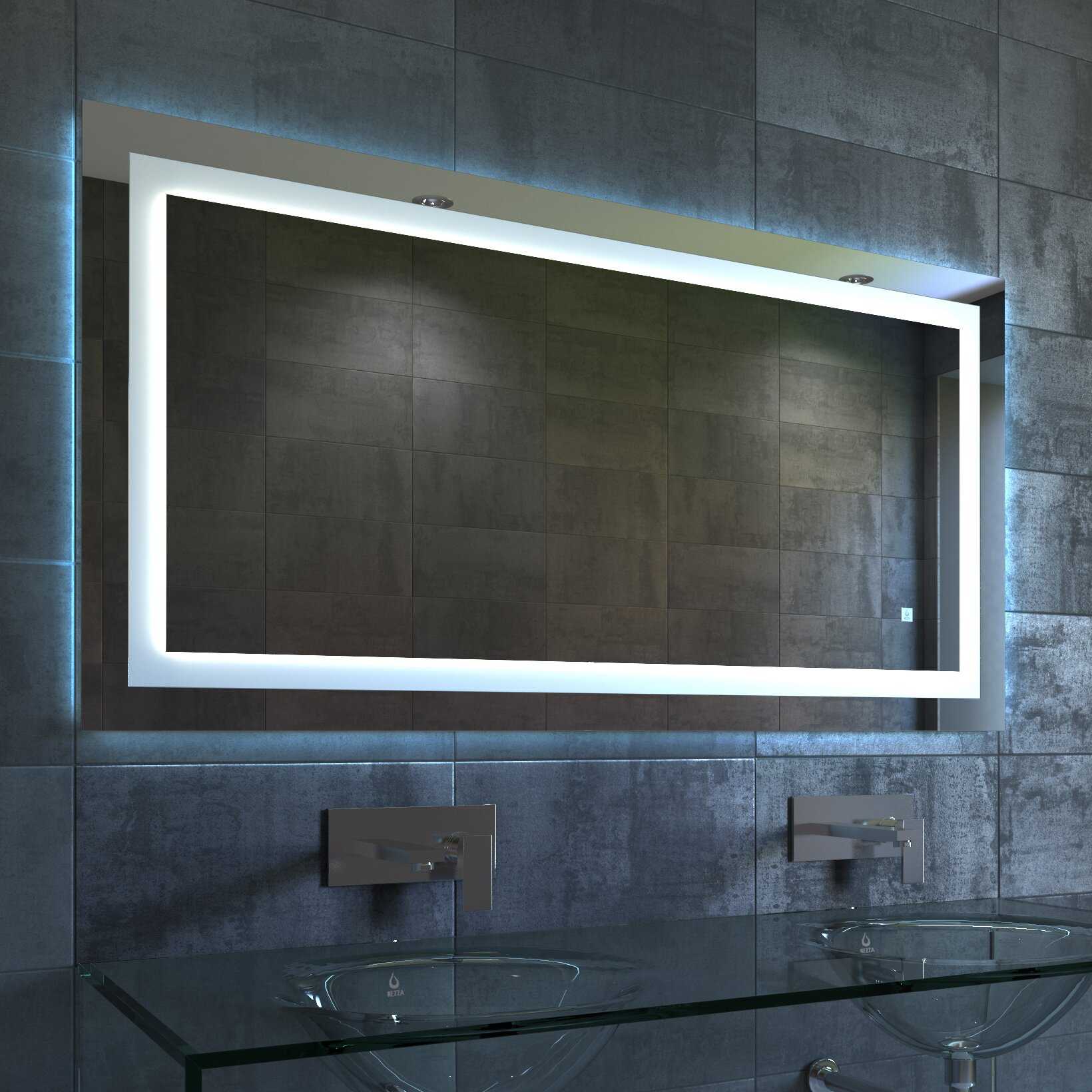 Nezza Lavva Contemporary Illuminated LED Bathroom Mirror