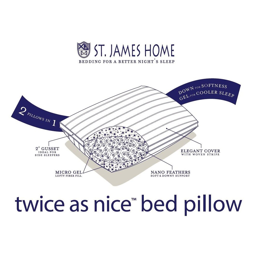 St James Home Twice As Nice Bed Feathers Pillow Reviews