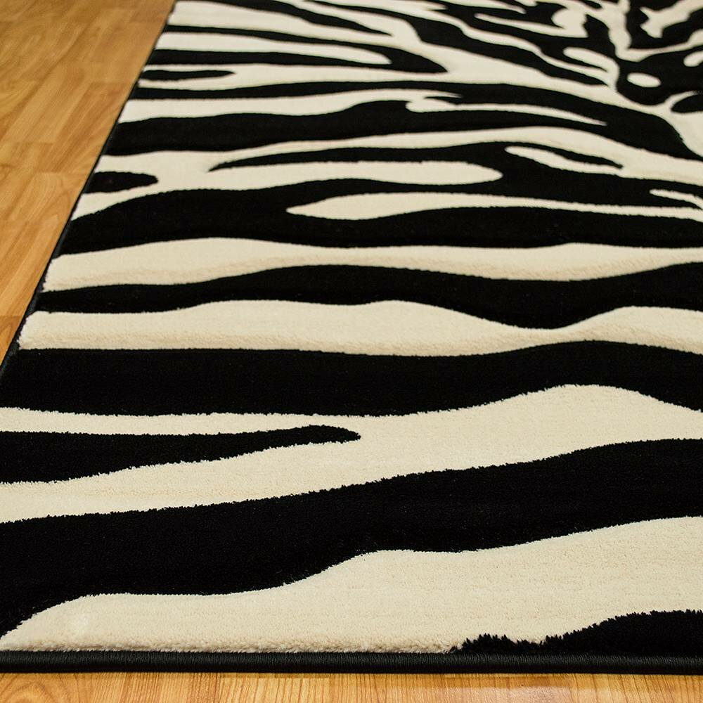 AllStar Rugs Zebra Black/Beige Area Rug & Reviews