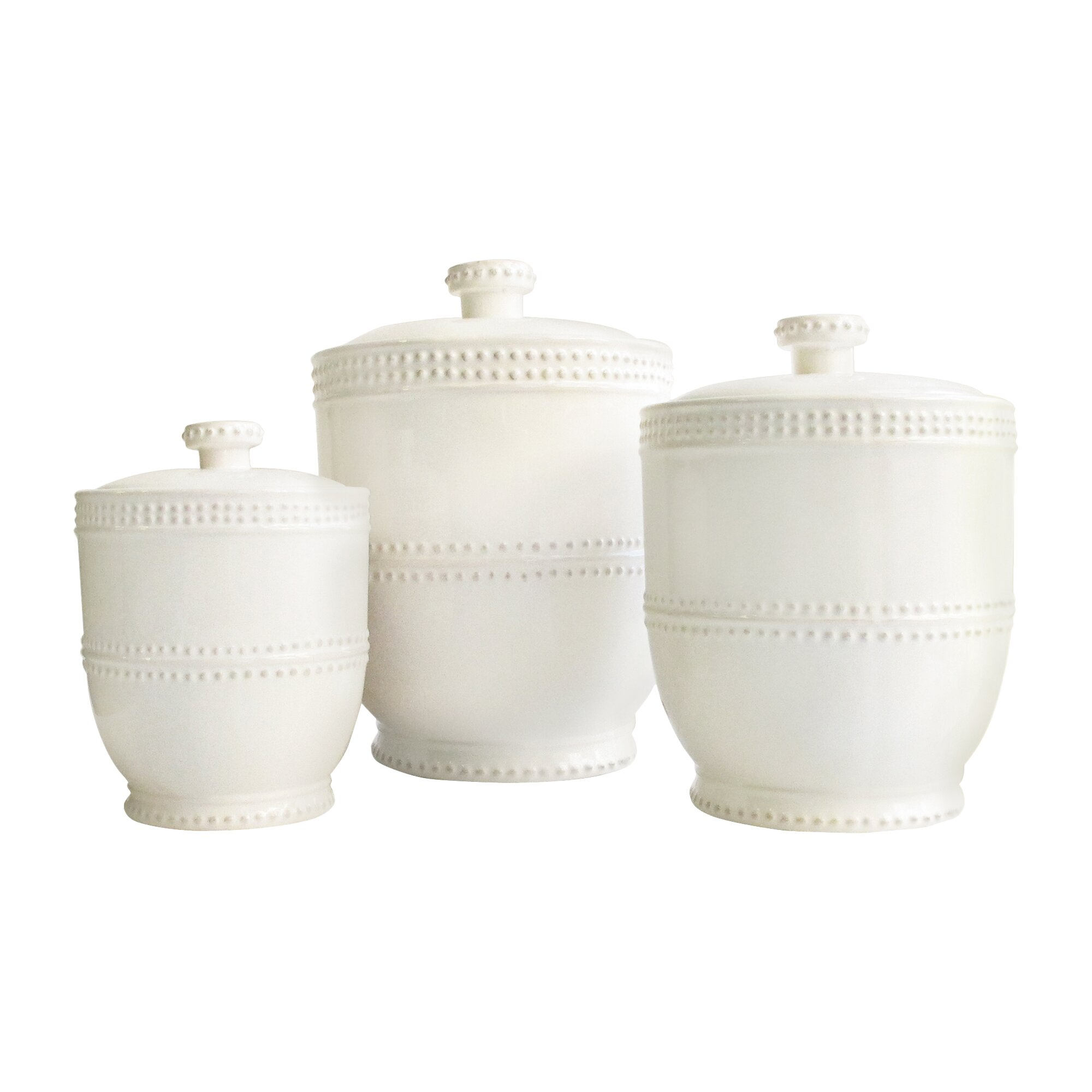 Designer Kitchen Canister Sets White Kitchen Canisters Jars Youll Love Wayfair