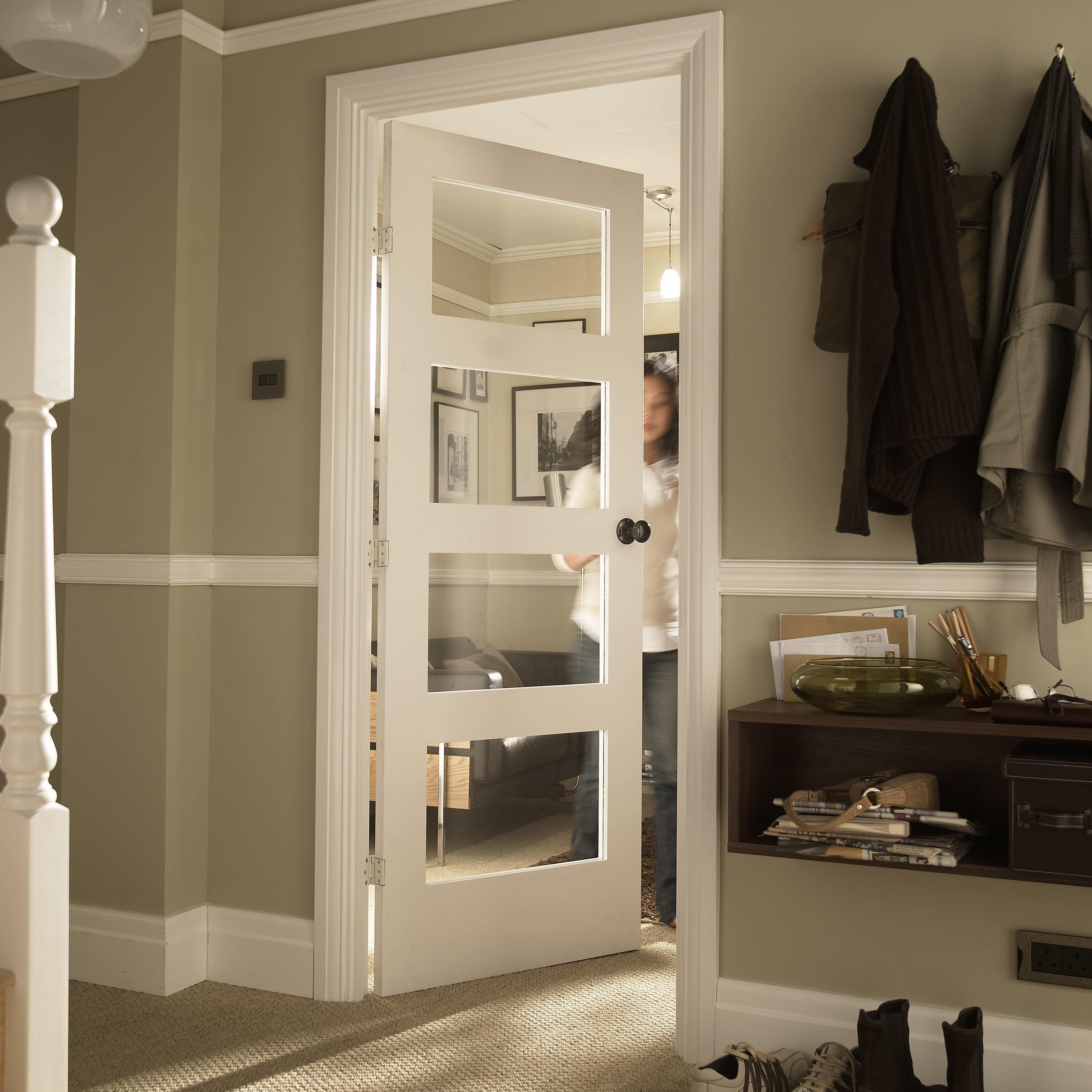Jeld Wen Shaker 4 Panel White Glazed Internal Door Reviews