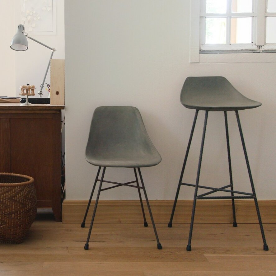 hauteville  bar stool  allmodern - lyon beton hauteville quot bar stool lyon beton hautevillequot