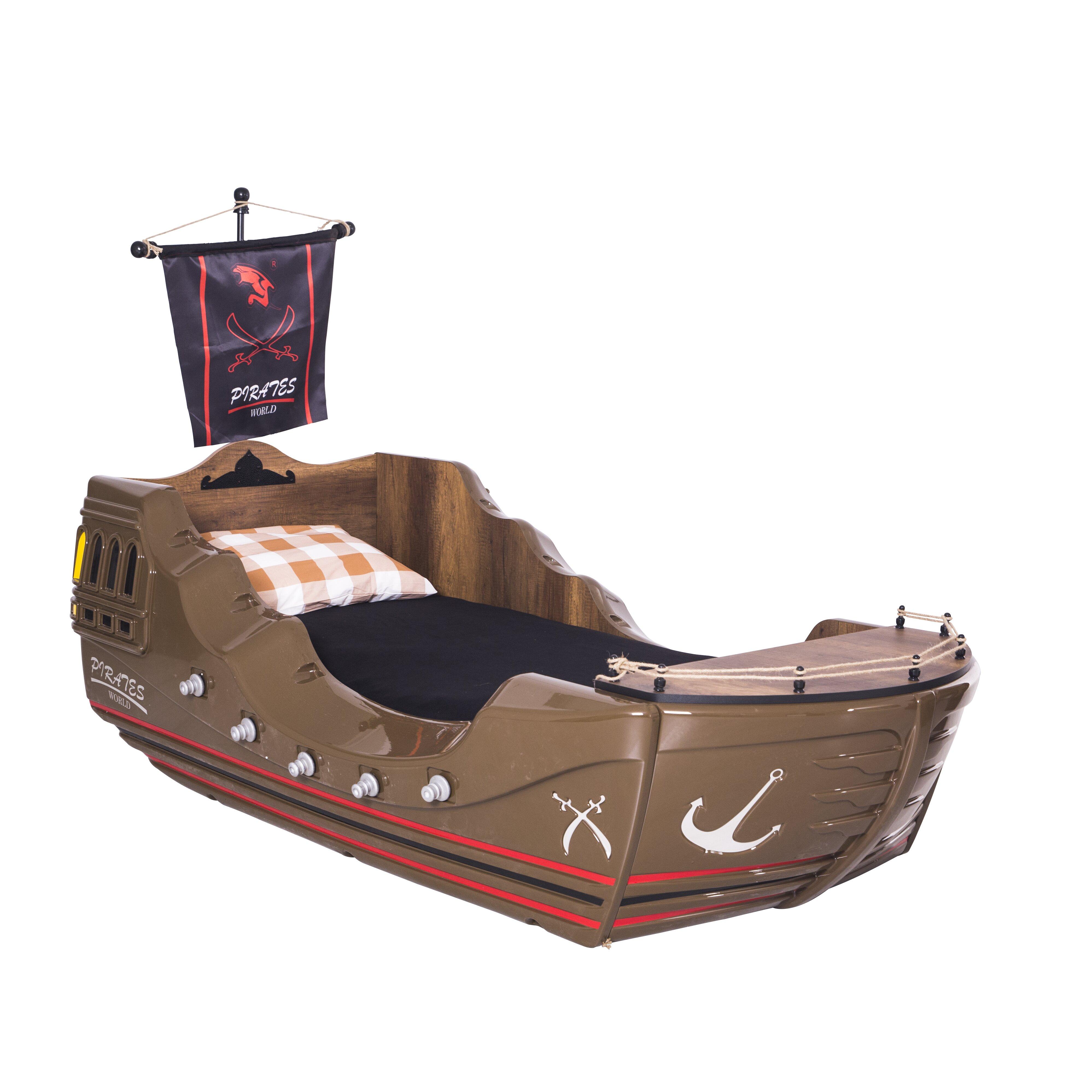 cloudseller pirate twin sleigh customizable bedroom set