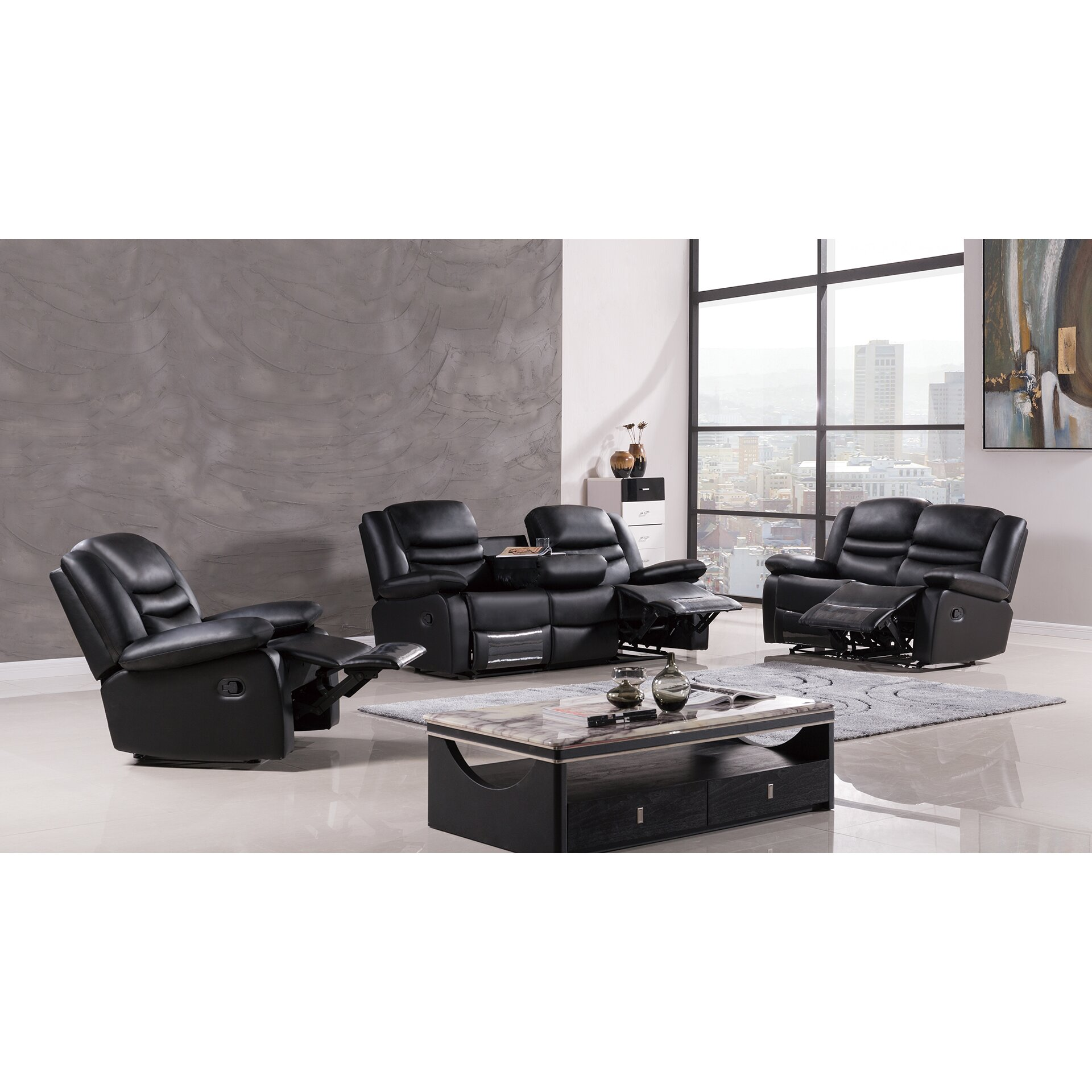 White Living Room Set For Leather Living Room Sets Youll Love Wayfair