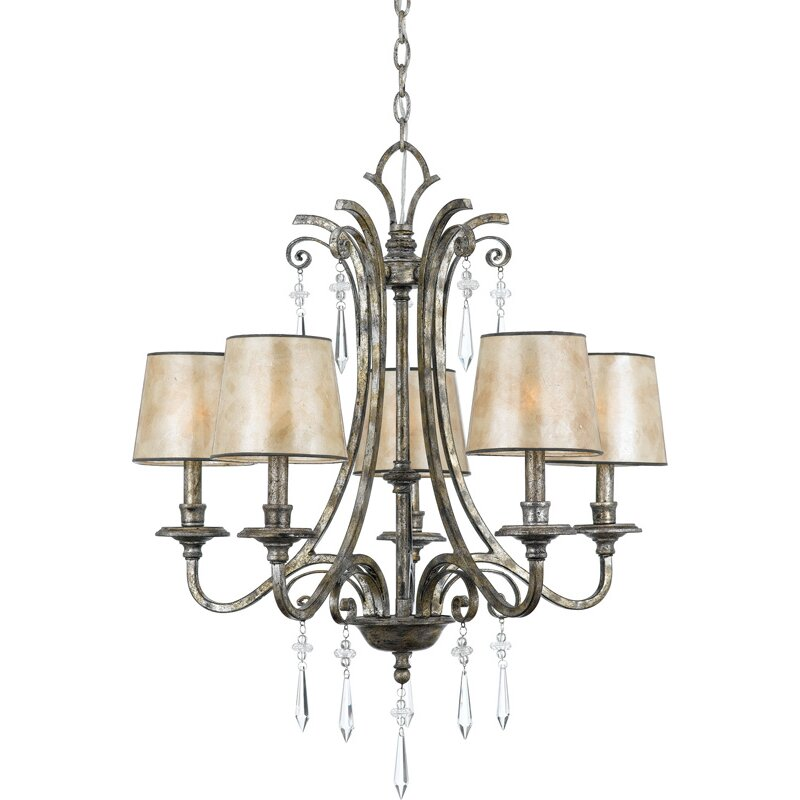 Quoizel Kendra 5Light Shaded Chandelier Reviews – Quoizel Chandelier
