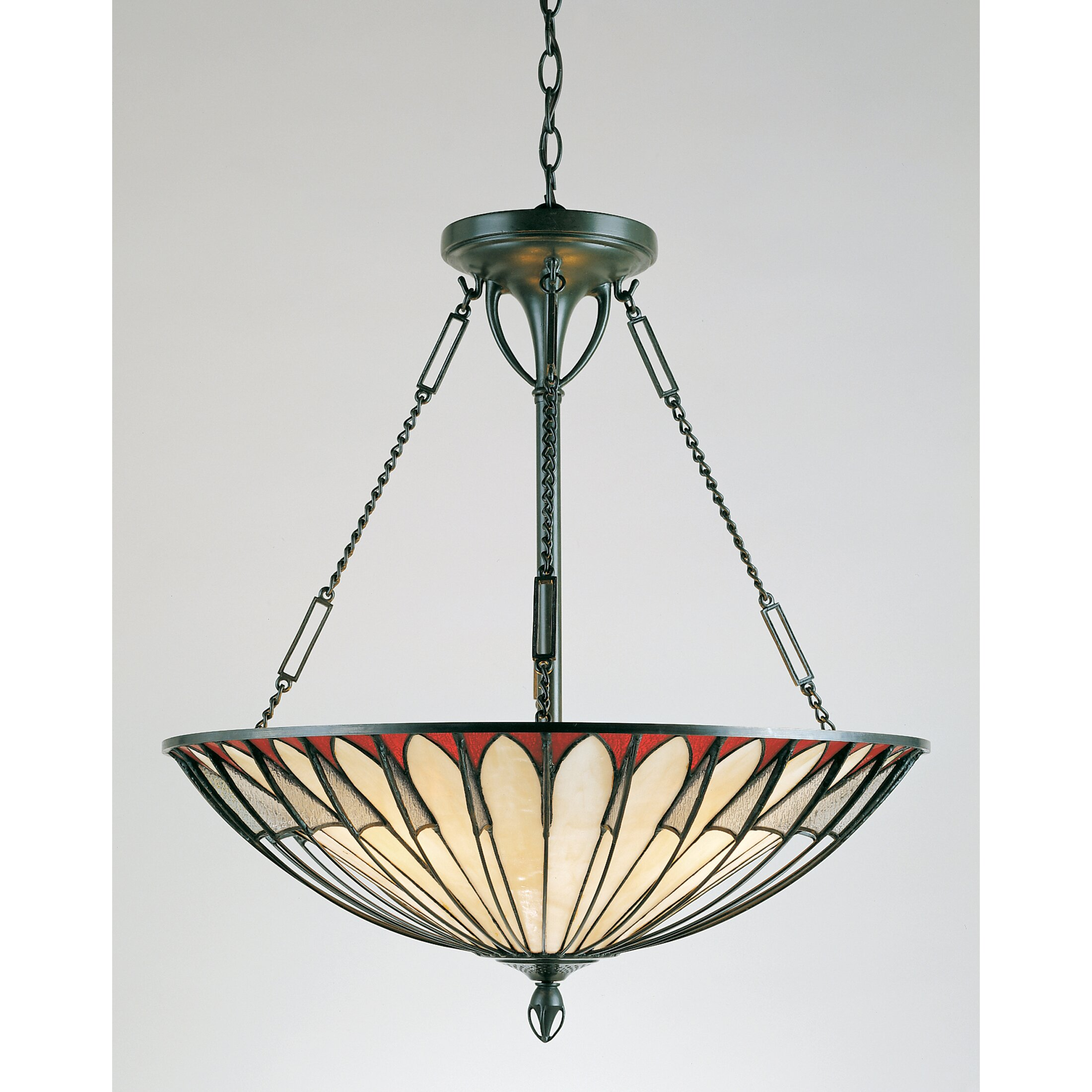 quoizel alhambre 4 light tiffany inverted pendant