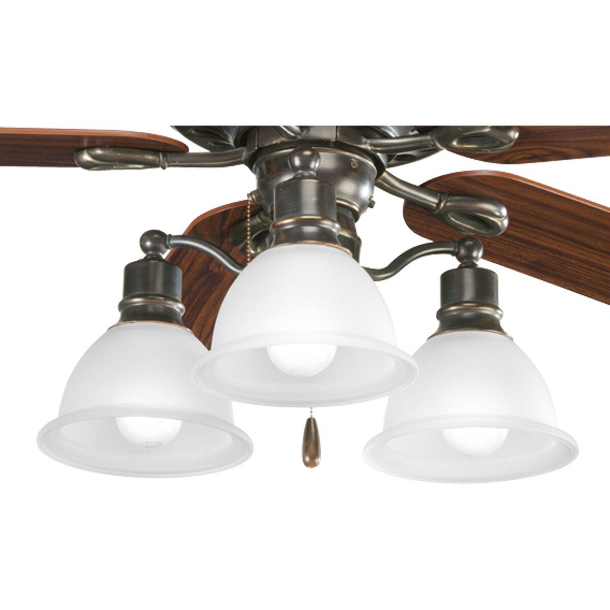 Madison 3-Light Branched Ceiling Fan Light Kit