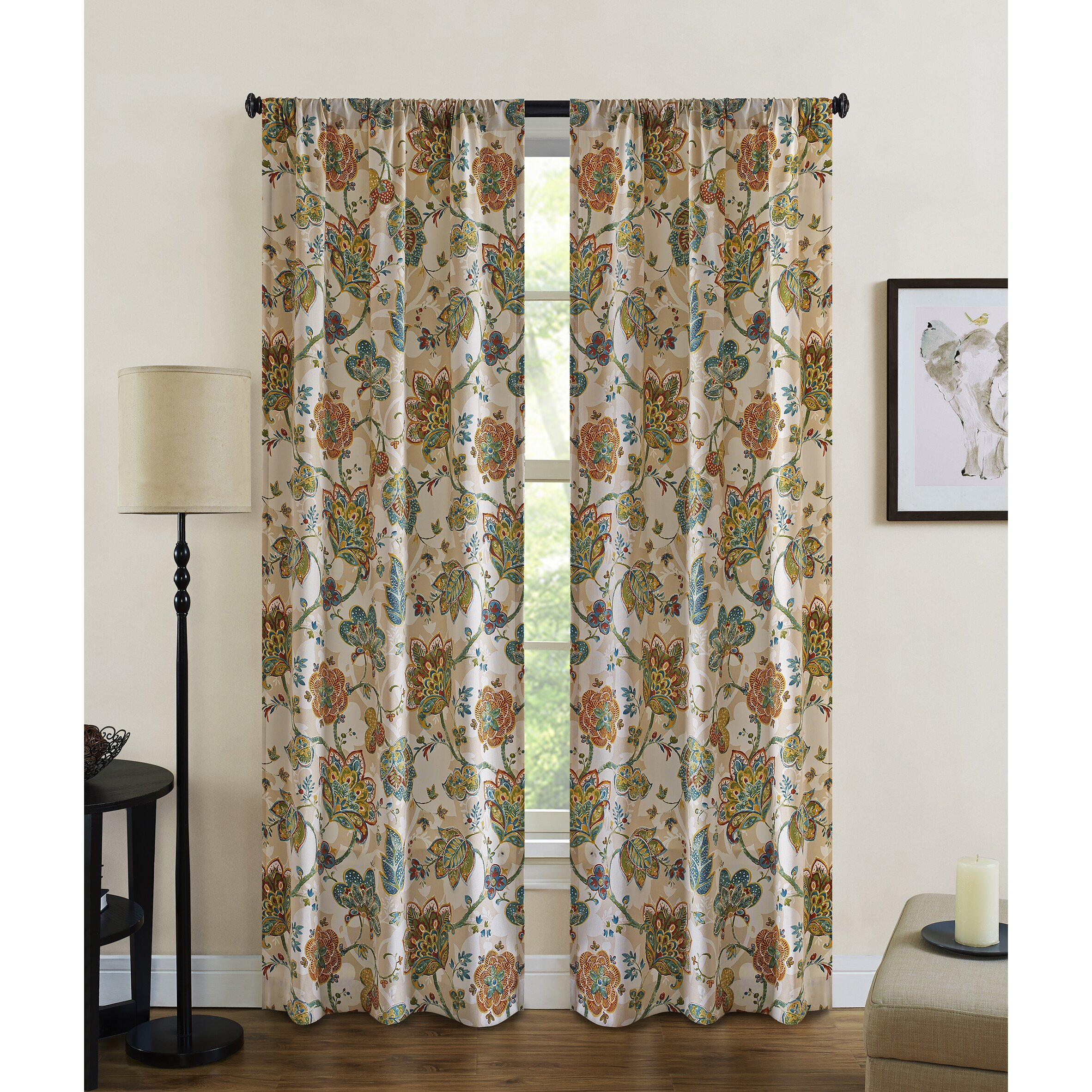 Striped outdoor curtains - Jubilee Indoor Outdoor Curtain Panels